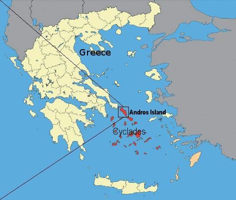 Χάτρης της Ελλάδας με στίγμα της Άνδρου και των Κυκλάδων