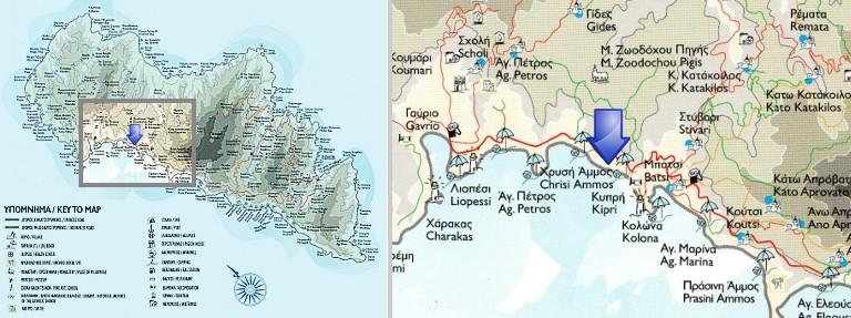 Χάρτης: Κυπρί, Άνδρος